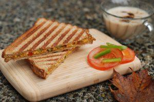 paneer bhurji sandwitch recipe